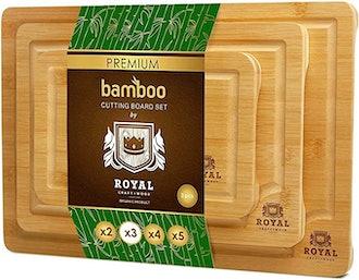 ROYAL CRAFT WOOD Bamboo Cutting Board Set (3-Piece)