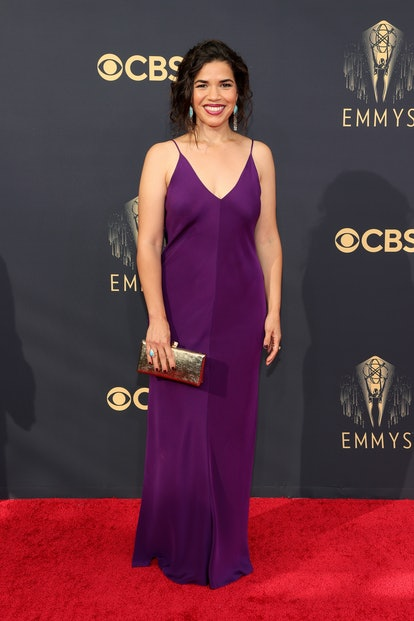America Ferrera attends the 73rd Primetime Emmy Awards at L.A. LIVE on September 19, 2021 in Los Ang...