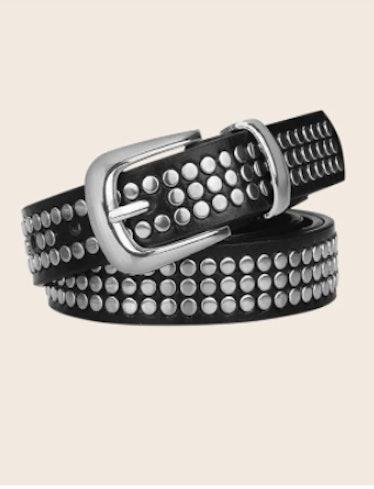 Studded Decor Belt With Hole Punch