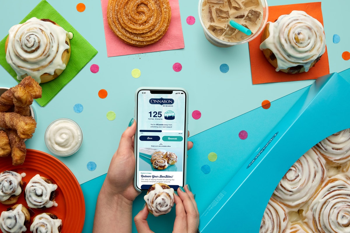 Cinnabon's new app and Rewards program makes ordering delivery simple.