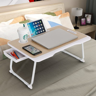 Baodan Laptop Bed Table with Storage