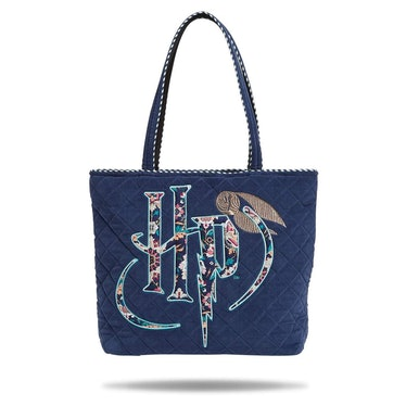 The Vera Bradley X 'Harry Potter' Forbidden Forest Collection features a Harry Potter tote bag.
