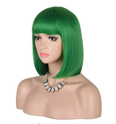 "Green bob wig for ""Ice Cream"" video Halloween costume"