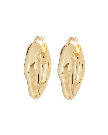 The Mira Wavy Hoop Earrings