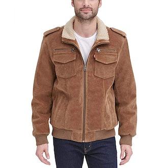 Levi's Faux Leather Sherpa Bomber Jacket