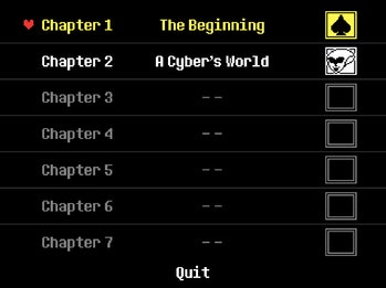 Deltarun Chapters 3, 4, 5, 6, and 7