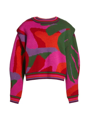Abstract Colorblock Sweater