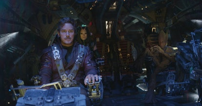 A still from 'Guardians of the Galaxy 2,' with Peter Quill and the Guardians on their ship.