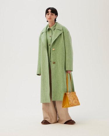 Agnes Coat Virgin Wool Felt Green