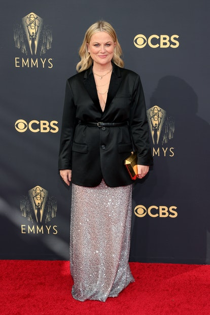 Amy Poehler attends the 73rd Primetime Emmy Awards at L.A. LIVE on September 19, 2021 in Los Angeles...