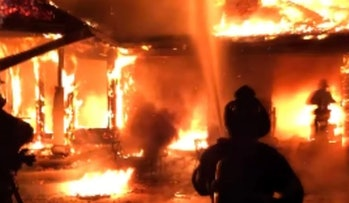 Larry Page mansion fire video screenshot