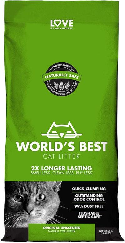 World's Best Cat Litter Original Unscented, 32 Lbs.