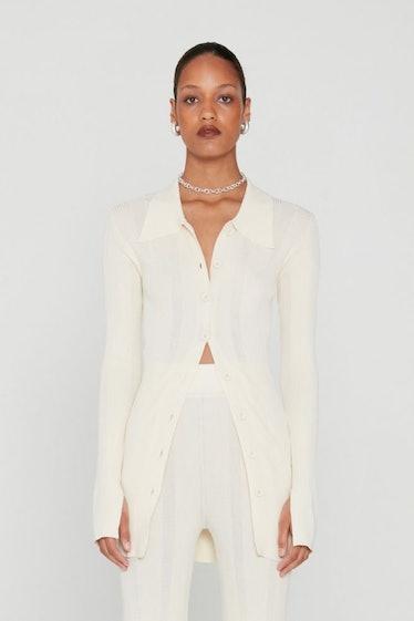 Kulia Knit Cardigan White