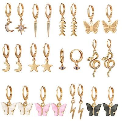 SYNLIN Hoop Earrings (12 Pairs)