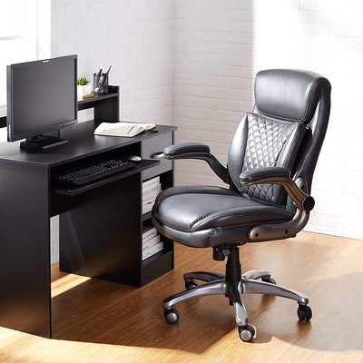 AmazonCommercial Rhombus-Stitched Executive Chair