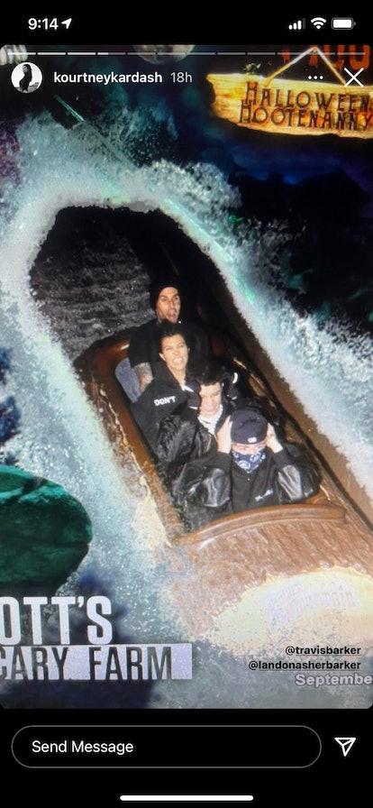 Kourtney Kardashian and Travis Barker's haunted house date was full of spooky surprises.