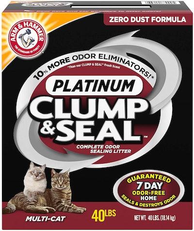Arm & Hammer Clump & Seal Platinum Cat Litter, 40 Lbs.