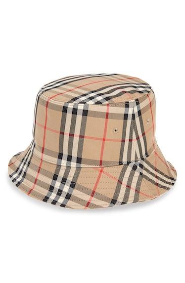 Heavy Check Bucket Hat