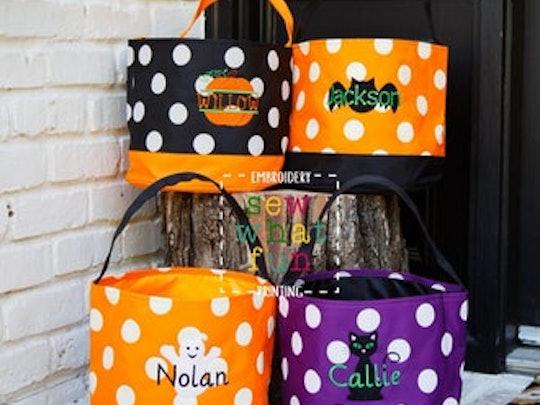 personalized halloween baskets