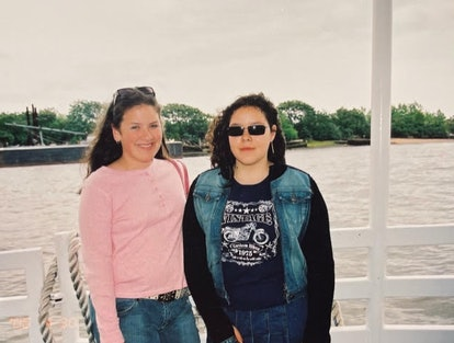 Best friends Sydney Gordon and Samantha Sanchez on their 8th grade field trip.