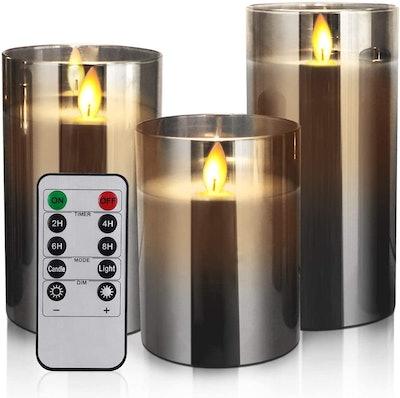 Yinuo Candle Flameless LED Candles (Set Of 3)