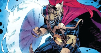 Beta Ray Bill whipping up some thunder and lightning in Thor Vol. 6 #14