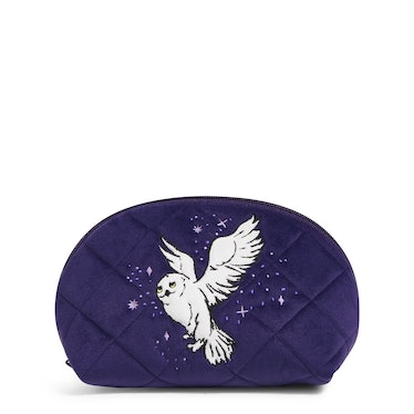 The Vera Bradley X 'Harry Potter' Forbidden Forest Collection features a Hedwig cosmetic bag.