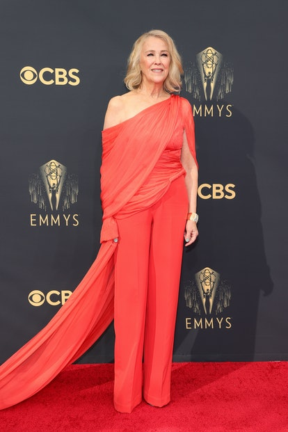 Catherine O'Hara attends the 73rd Primetime Emmy Awards at L.A. LIVE on September 19, 2021 in Los An...