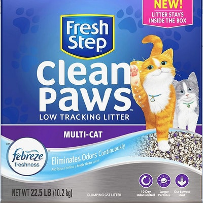 Fresh Step Clean Paws Multi-Cat Litter, 22.5 Lbs.