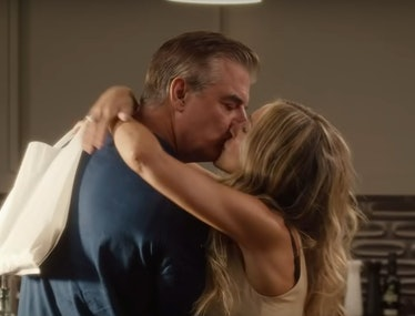 Big and Carrie kissing