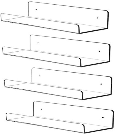 CY Craft Acrylic Floating Shelves (4- Pack)
