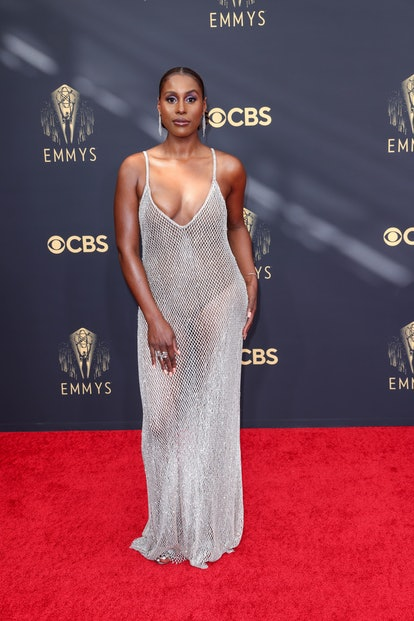 Issa Rae attends the 73rd Primetime Emmy Awards at L.A. Live on Sunday, Sept. 19, 2021 in Los Angele...