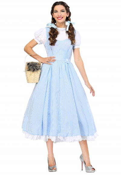 Woman in Dorothy from the Wizard of Oz costume