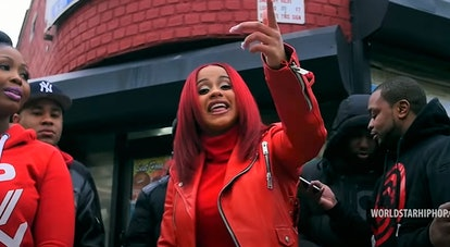 "Cardi B ""Red Barz"" Music Video"