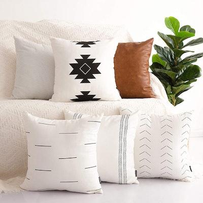 HOMFINER Decorative Throw Pillow Covers