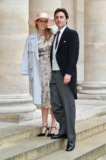 rincess Beatrice d'York and her fiance Edoardo Mapelli Mozzi attend the Wedding of Prince Jean-Chris...
