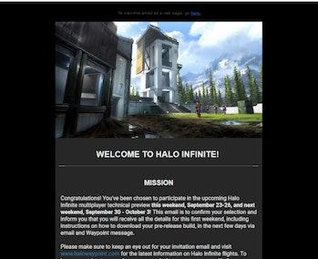 halo infinite flight 2 email