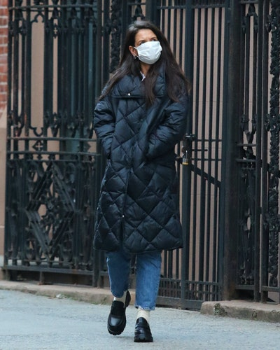 Katie Holmes out for a walk on January 22, 2021 in New York City.