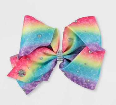 JoJo Siwa Rainbow Mermaid Bow Hair Clip