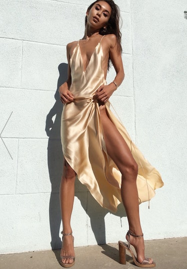 Backless High Slit Dress from Victoria's Wing