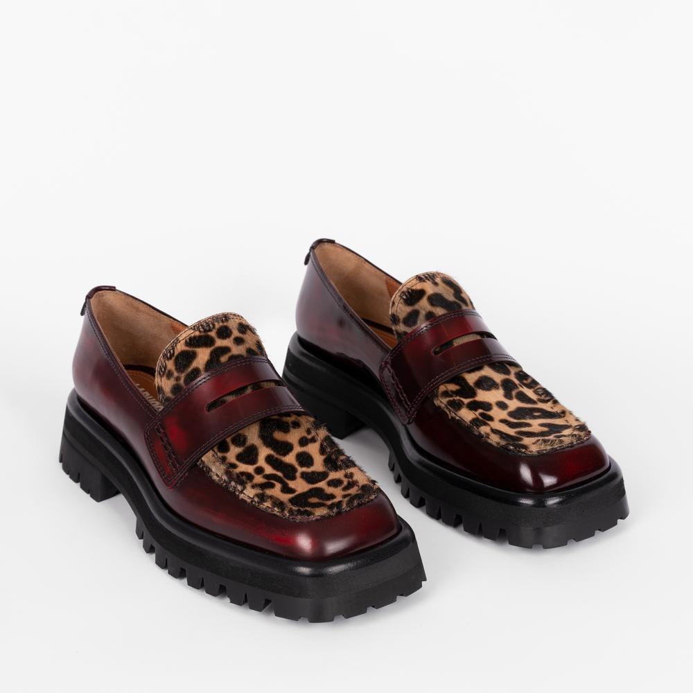 Mika Loafer Leopard / Bordeaux