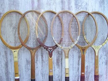 Vintage Wood Tennis Racquets