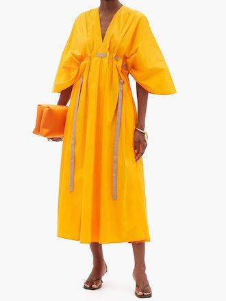 Naomina V-Neck Cotton Dress