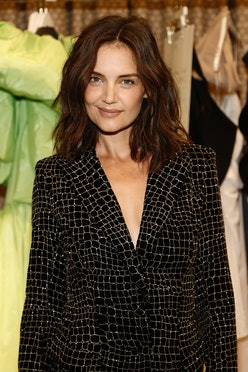 Katie Holmes attends front row for the Christian Siriano SS2022 Fashion Show at Gotham Hall on Septe...