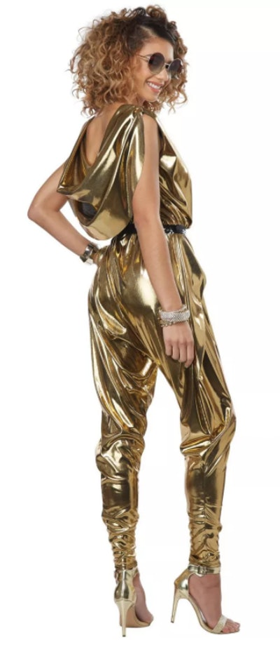 gold 70's jumpsuit Halloween costume