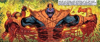 Thanos kills Iron Man in one issue of Thanos Wins