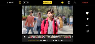 iPhone 13 Pro review: cinematic mode non-destructive editing