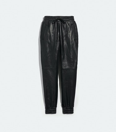 Leather Jogger