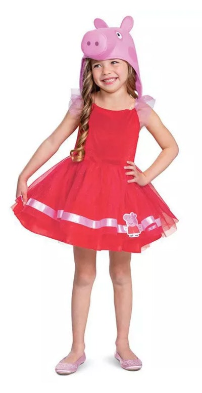 One TV Halloween costume for girls is this 'Peppa Pig' costume dress from Target.