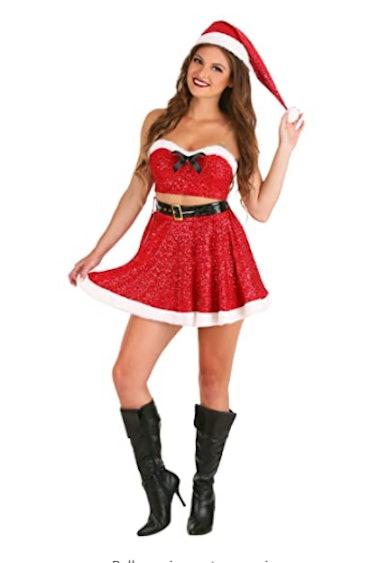Sexy Sequin Santa Costume